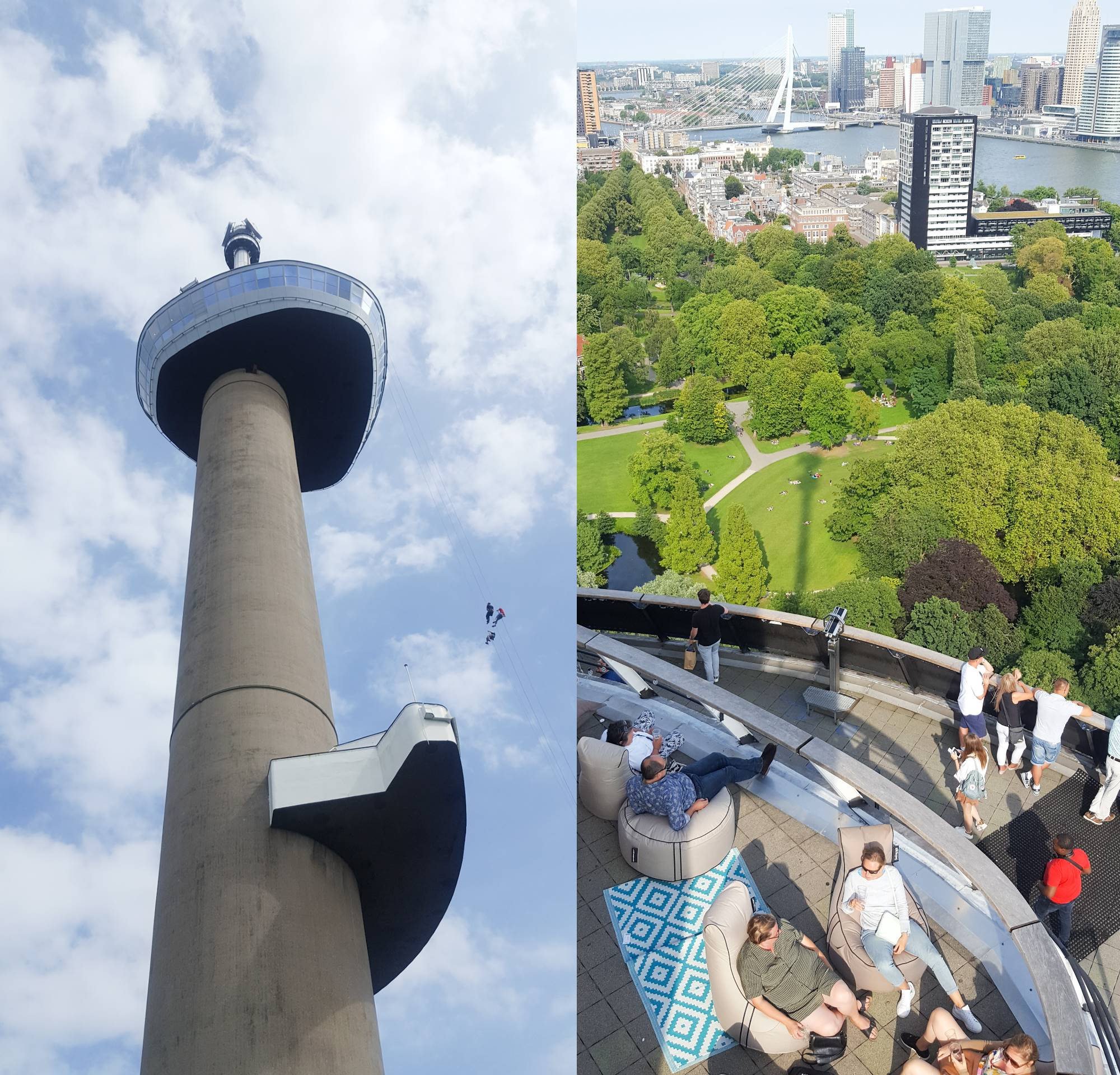 Pop-up rooftop bar Euromast Rotterdam